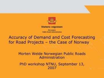 Accuracy of Demand and Cost Forecasting for ... - Concept - NTNU