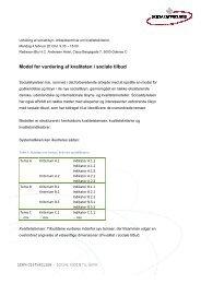 Model for vurdering af kvaliteten i sociale tilbud - Socialstyrelsen