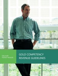 GOLD COMPETENCY REVENUE GUIDELINES - Microsoft Partner