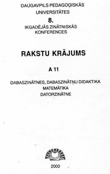 Poppels A., Kalniņš M. 2000. Gaujas Nacionālā parka tekošo ūdeņu ...