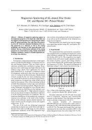 magnetron sputtering of al_doped zinc oxide - 2nd International ...