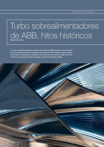 Turbo sobrealimentadores de ABB, hitos históricos