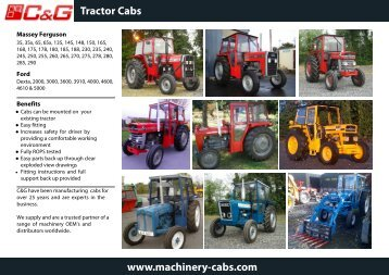 C&G Tractor Cab Brochure - Machinery Cabs