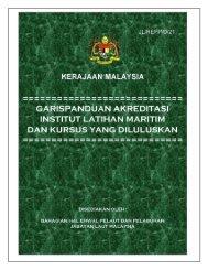 garispanduan akreditasi institusi latihan maritim dan kursus yang ...