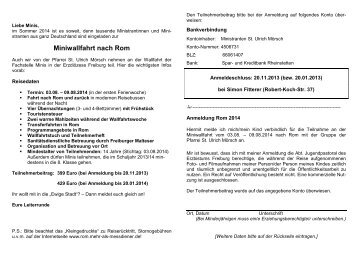 Download - Ministranten St. Ulrich - St. Ulrich Mörsch