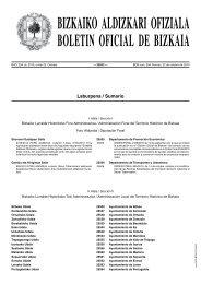 bizkaiko aldizkari ofiziala boletin oficial de bizkaia - Iurretako Udala