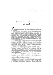 Protestantismo e democracia no Brasil - Lusotopie