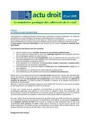 FOCUS: LE TIERS PAYANT EN PRATIQUE - CSMF
