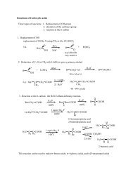Reactions of Carboxylic acids Three types of reactions: 1 ...