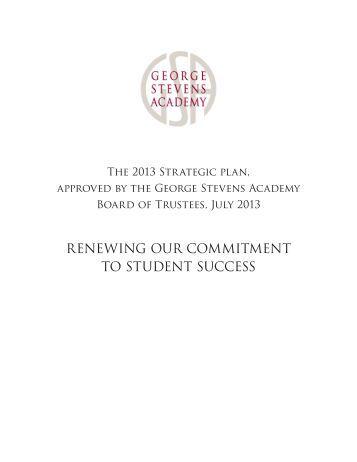 GSA Strategic Plan 2013 - George Stevens Academy
