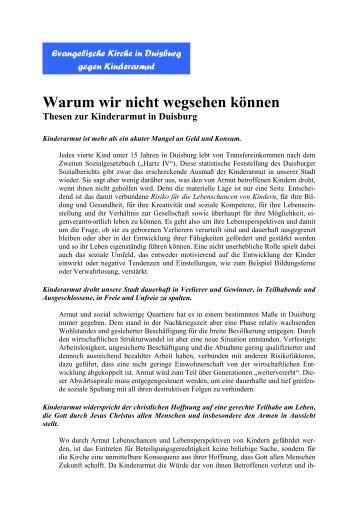 Thesenpapier - Kinderarmut - Evangelischer Kirchenkreis Duisburg