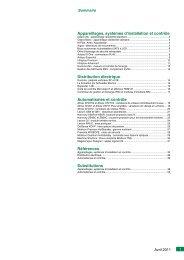 Appareillages, systèmes d'installation et contrôle Distribution ...
