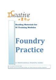 Foundry Practice - The Hong Kong Polytechnic University
