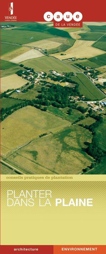 """""""planter dans la plaine"""" au format PDF - CAUE"""