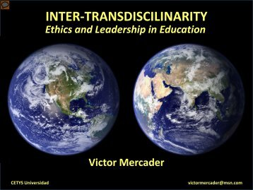 Inter-Transdisciplinarity - ISTEC