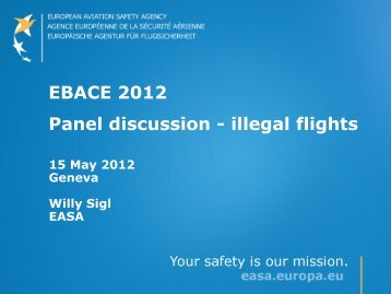 EBACE 2012 Panel discussion - illegal flights