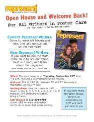 Open House and Welcome Back! - Youth Communication