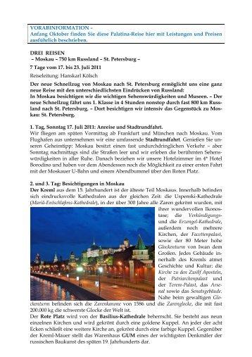 Z - HP - Reise 6 - Moskau-Petersburg - Hanskarl Kölsch