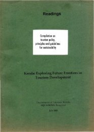 Kerala- Exploring Future Frontiers in Tourism ... - Equations