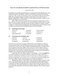 Abstract - Linguistics and English Language