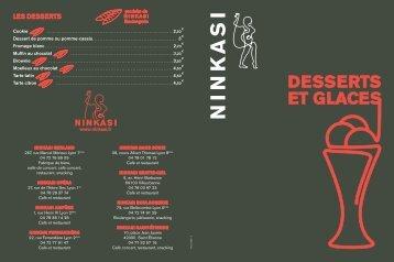 DESSERTS ET GLACES - Ninkasi