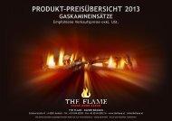 produkt-preisübersicht 2013 gaskamineinsätze - The Flame