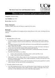 Illness management and prevention policy