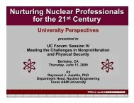 presented - Berkeley Nuclear Research Center