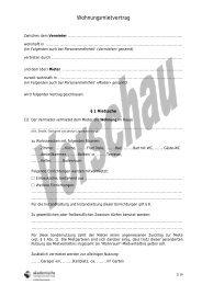 Wohnungsmietvertrag