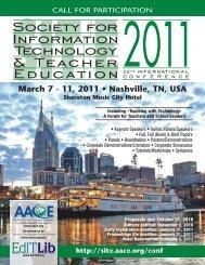 March 7 - 11, 2011 • Nashville, TN, USA - Society for Information ...
