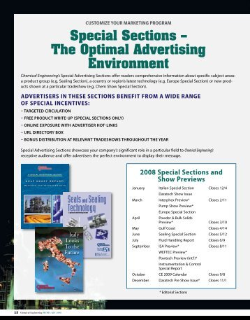 Special Sections - Order Newsletter page