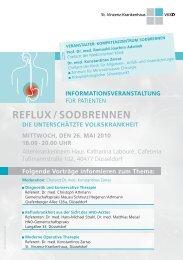 REFLUX / SODBRENNEN - Verbund Katholischer Kliniken Düsseldorf