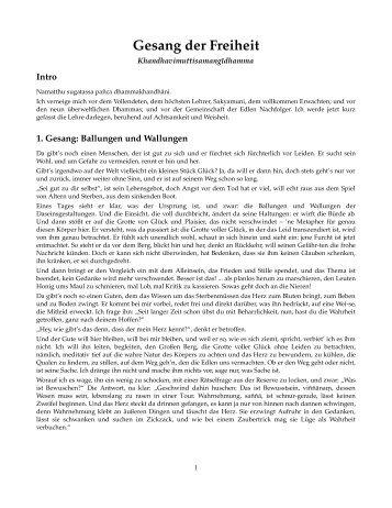 Gesang der Freiheit webseittext - muttodaya