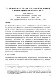 Zur Positionierung und Weiterentwicklung des Data Warehousing in ...