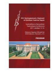 A konferencia hivatalos programja letölthető itt! - Magyar ...