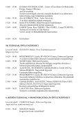 A konferencia hivatalos programja letölthető itt! - Magyar ... - Page 6