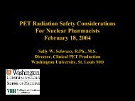 PET Radiation Safety Considerations For Nuclear ... - (CRCPD) at