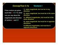 ConcepTest 3.1a Vectors I