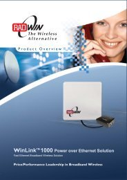 WinLinkTM 1000 Power over Ethernet Solution - Wireless Guys