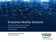Enterprise Mobility Solutions: Track 2: Vertical ... - VDC Research