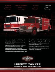 Detailed Specifications - Fire Service Inc