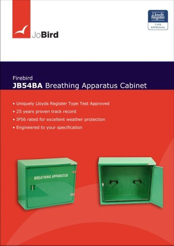 JB54BA Breathing Apparatus Cabinet - Jo Bird