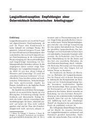 Langzeitkontrazeption: Empfehlungen einer Österreichisch ...