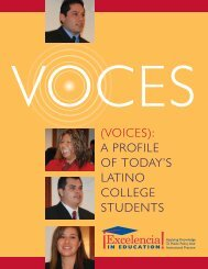 a profile of today's latino college students - Ensuring Access and ...