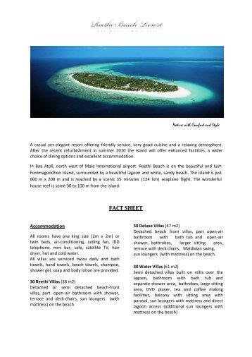 FACT SHEET - Reethi Beach Resort