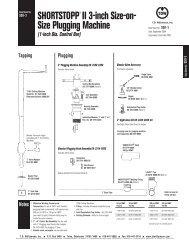 SHORTSTOPP® II 3 Inch Data Sheet - T.D. Williamson, Inc.