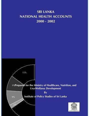 Sri Lanka National Health Accounts 2000-2002 - Burnet Institute