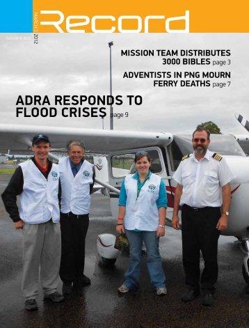 ADRA RESPONDS TO FLOOD cRISES page 9 - RECORD.net.au
