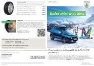 Buďte akční celou zimu - Porsche Hradec Králové