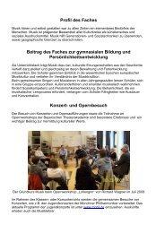 Musikunterricht am WHG - Wilhelm-Hausenstein-Gymnasium